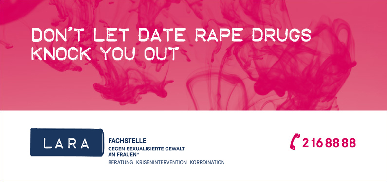Flyer Don't let date rape drugs knock you out